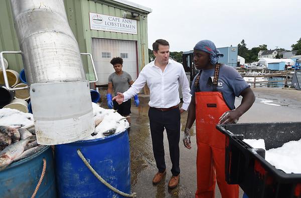 Seth Moulton's tour of Cape Ann Lobstermen