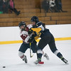 SAM GORESH/Staff photo. Gloucester's Rachel Alexander gets a shove in their game against Andover at Dorothy Talbot Rink. 12/21/16