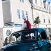 SAM GORESH/Staff photo. Santa arrives in Rockport's Dock Square. 12/25/16
