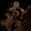 SAM GORESH/Staff photo. Gingerbread men on a plate as part of the holiday decorations at the Cape Ann Museum during the Middle Street Walk. 12/10/16