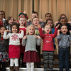 SAM GORESH/Staff photo. Veterans' Memorial Elementary School kindergarteners perform during the school's Holiday Sing-a-Long . 12/15/16