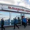 SAM GORESH/Staff photo.  Movie goers exit Gloucester Cinema after the 1pm showing of Manchester By the Sea. 12/3/16
