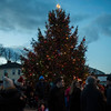 SAM GORESH/Staff photo. People begin to exit the town square after the Christmas tree lighting Ceremony during Rockport's Christmas celebration. 12/3/16