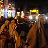 People dressed as members of the Nativity story march down past Dock Square during the Rockport Annual Christmas Pageant in Rockport on Saturday December 16, 2017.  JOSEPH PREZIOSO/Photo
