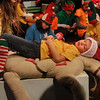 MIKE SPRINGER/Staff photo   <br /> Seven-year-old Charlie Esdaile plays Turkey, a tired elf who falls asleep on Christmas Eve in Santa's Workshop in the annual Holiday Delights show presented by the Youth Acting Workshop at the Gloucester Stage.<br /> 12/09/2017