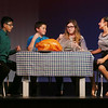 "MIKE SPRINGER/Staff photo   <br /> From left, Renzo Paredes, Jakob Timmons, Morgan Reilly and Maya Doucette rehearse a scene in the Rockport Middle School Drama Club's new play, ""The Best Christmas Pageant Ever,"" in the school auditorium Tuesday. The play will be presented to the public this Thursday and Friday at 7 p.m. and on Saturday at 2 p.m. Admission is $8 for adults, $6 for children and seniors.<br /> 12/12/2017"