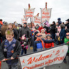 Rockport Cub Scouts Troop 55 lead the parade and Santa from T-Wharf at Rockport Harbor to Old Firehouse on Pleasant St. on Saturday December 2, 2017 in Rockport, Ma.  Joseph Prezioso/Photo