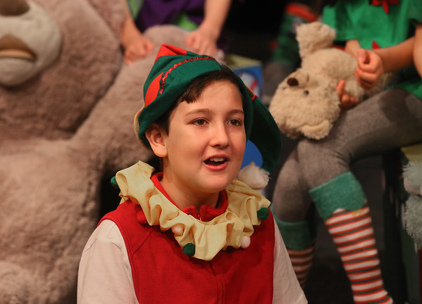MIKE SPRINGER/Staff photo   <br /> Ten-year-old Jacob Murphy plays an elf named Jelly in the annual Holiday Delights show presented by the Youth Acting Workshop at the Gloucester Stage.<br /> 12/09/2017