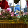 Danny Lilly, 5, Mary Lilly, 5, Kailani Sullivan, 5, Vivienne Sullivan, 3, and Frankie Sullivan, 3, peer into the window of the Old Firehouse on Pleasant St. to get a peak of Santa and Mrs. Clause greeting children after their arrival via lobster boat at the T-Wharf at Rockport Harbor for the annual parade and tree lighting on Saturday December 2, 2017 in Rockport, Ma.  Joseph Prezioso/Photo