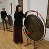 "MIKE SPRINGER/Staff photo   <br /> Karin Antanaitis, right, of Rockport and Jon Holland of Gloucester play Tibetan gongs during a rehearsal Monday for the Winter Solstice Celebration at the Floating Lotus in downtown Gloucester. The event, which will be held on Thursday, the longest night of the year and the start of winter, from 7 to 9 p.m., will include meditation, candle lighting and tribal dance. It is open to the public. Tickets are $25 and can be obtained at Floating Lotus at 169 Main Street or at  <a href=""http://www.floatinglotus.net"">http://www.floatinglotus.net</a>.<br /> 12/18/2017"