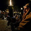 Ted Twombley holds his torch at the Nativity scene at the First Unitarian Universalist Church during the Rockport Annual Christmas Pageant in Rockport on Saturday December 16, 2017.  JOSEPH PREZIOSO/Photo