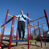 MIKE SPRINGER/Staff photo<br /> Steve Winslow, senior project manager for the city of Gloucester's Community Development Department, on the playground at Burnham's Field, which he helped develop. Winslow is retiring on friday.<br /> 12/21/2017