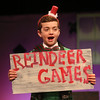 MIKE SPRINGER/Staff photo   <br /> Ten-year-old Gabriel Magee plays Candy Cane, Mrs. Claus's elf assistant, in this year's Holiday Delights show presented by the Youth Acting Workshop at the Gloucester Stage.<br /> 12/09/2017