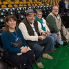 Desi Smith Photo.   From left to right Terry Smith of Gloucester,Tom and Teresa Corcoran of Maryland were invited guest of Gloucester resident Stephen Tyler (far right) to sit court side during the Boston Celtic's game vs the Denver Nuggets. Stephen Tyler ,founder of To Show We Care, was honored by the Boston Celtics organizaition Wednesday night at the TD Garden for the Heroes Among Us.  December 13,2017