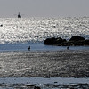 TIM JEAN/Staff photo<br /> <br /> A large fishing vesel enters the channel of Gloucester Harbor seen from the low tide beaches of Wonson Cove.  12/4/18