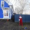 Elf on a lawn