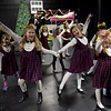 TIM JEAN/Staff photo<br /> <br /> In center, Schuylay Corbett, left, and Scarlet Lee, sing and dance in the Madline Christmas scene during a dress rehearsal for Gloucester Stage Company's production of Holiday Delights. 12/4/18