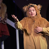 TIM JEAN/Staff photo<br /> <br /> Oli Dunton as Aslan performs on stage during a rehearsal of Rockport Middle School's performance of C.S. Lewis' The Lion, the Witch and the Wardrobe.  12/11/18