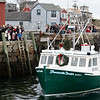 Santa arrives by lobster boat in Rockport