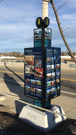 ANDREA HOLBROOK/Courtesy photo/Essex's new Essex Scenic Byway kiosk is located across from CK Pearl on the Main Street Causeway.