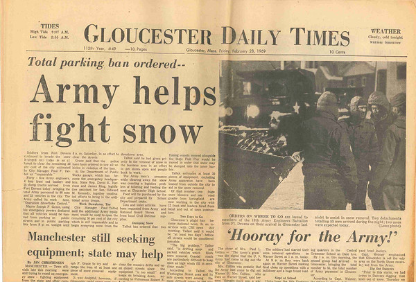 The front page on 1969.