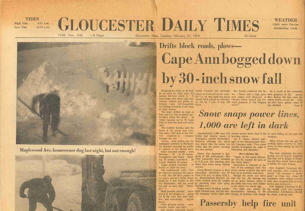 Front page on Tuesday, Feb. 25, 1969