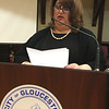 RAY LAMONT/Staff photo<br /> Mayor Sefatia Romeo Theken delivers her 2017 State of the City address to City Council at City Hall's Kyrouz Auditorium on Tuesday night.