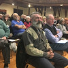 RAY LAMONT/Staff photo<br /> Crowd of about 135 listens to speakers at Thursday nights forum on coyotes at Gloucester City Hall.