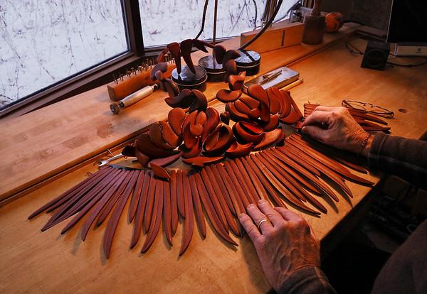 Rick Crangle in His Studio