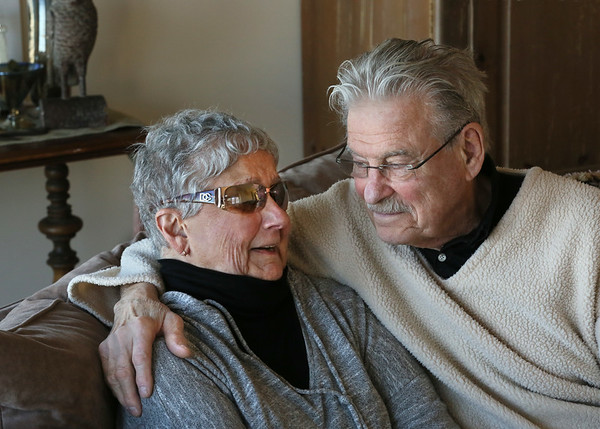 MIKE SPRINGER/Staff photo<br /> Lulu and Donald Blaskovich at their home in Rockport.<br /> 1/31/2018