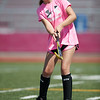 Abby Corbett practices her shot on goal at the Gloucester High School Youth FIeld Hockey Camp, Tuesday, July 10, 2018. Jared Charney / Photo