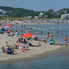 MIKE SPRINGER/Staff photo<br /> The summer crowds were back Monday at Good Harbor Beach in Gloucester. With temperatures in the 80s Wednesday, the 4th of July is expected to be a busy day.<br /> 7/2/2018