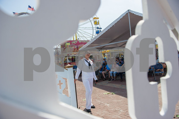 AMANDA SABGA/Staff photo<br /> <br /> Rhode Island Sound, a Navy Band, performs during Sunday at St. Peter's Fiesta.<br /> <br /> <br /> 7/1/18