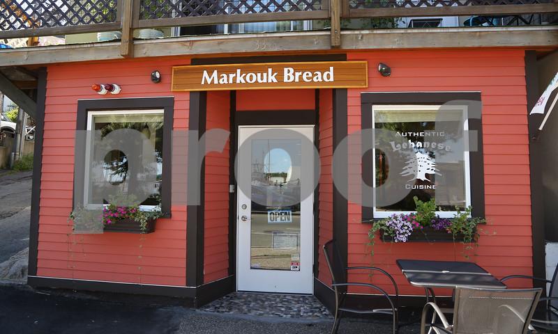 MIKE SPRINGER/Staff photo Markouk Bread, a Lebanese restaurant at 338 Main Street in Gloucester. 7/12/2018