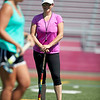 Coach Lauren Riley-Gove looks on at the Gloucester High School Youth FIeld Hockey Camp, Tuesday, July 10, 2018. Jared Charney / Photo