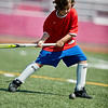 Adeline Amero practices her shot on goal at the Gloucester High School Youth FIeld Hockey Camp, Tuesday, July 10, 2018. Jared Charney / Photo