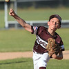 CARL RUSSO/staff photo. Gloucester's pitcher, Lucas Simendinger. Gloucester vs. Ipswich in Little League baseball action. 7/5/2018