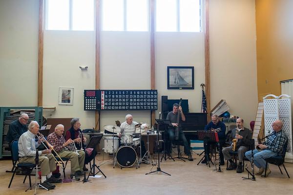 The Good Old Salty Jazz Band performs at the Rose Baker Senior Center. 1/9/17