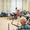 Sam Calomo dances to the Good Old Salty Jazz Band at the Rose Baker Senior Center. Calomo says he remembers going to dances at the YMCA when he was a pre-teen and being too nervous to dance with girls. He said it was not until he got back from serving in the military that he had the confidence to start dancing, and would often go out to dance. Calomo says he still loves dancing but the Senior Center is now the only place he has to go.  1/9/17