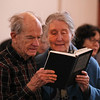 MIKE SPRINGER/Staff photo<br /> Alan and Diana Hughes Budreau of Essex sing Monday during an event in honor of Rev. Martin Luther King Jr. at the Rockport Unitarian Universalist church in Rockport.<br /> 01/15/2018