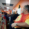 Rick Doucette watches over the kids at the 21st Annual Rock-A-Thon to help feed those in need at the Teen Center in Gloucester, Saturday, January 13, 2018. Jared Charney / Photo