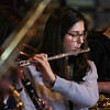MIKE SPRINGER/Staff photo<br /> Andraya Ortiz, a senior, plays the flute Thursday with the Jazz Ensemble I at Rockport High School as the band prepared to leave for Long Island, New York, to participate in the Herricks Jazz Festival. Oritiz also plays alto saxophone with the group.<br /> 1/18/2018