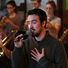 MIKE SPRINGER/Staff photo<br /> Ben Fuller, a senior, sings Thursday with the Jazz Ensemble I at Rockport High School as the band prepared to leave for Long Island, New York, to participate in the Herricks Jazz Festival. Fuller, who cites Gene Kelly and Frank Sinatra as influences, recently learned he is one of 10 finalists who will compete next month in the solo singers competition at the Berklee College of Music.<br /> 1/18/2018