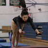 MIKE SPRINGER/Staff photo<br /> Marisa Enes of Gloucester competes in the vault exercise for the Gloucester-Ipswich team during a three-school meet Wednesday at Essex Agricultural and Technical High School in Danvers.<br /> 01/24/2018