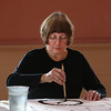 """MIKE SPRINGER/Staff photo   <br /> Anne Prybot takes part in a """"Joy of Chinese Brush Painting"""" class Tuesday at the Rockport Senior Center. The class, taught by Carla Mattioli of Rockport, will meet on Tuesdays from 1:30 to 3:30 p.m.<br /> 01/16/2018"""