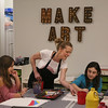 "MIKE SPRINGER/Staff photo<br /> Cathy Kelley teaches nine-year-old Destiny Smith, right, and Giselle Ferreira, 8, how to paint during an after-school class Thursday at Cape Ann Art Haven in downtown Gloucester. Art Haven offers a variety of after-school art courses. For more information go to  <a href=""http://www.arthaven.org"">http://www.arthaven.org</a>.<br /> 01/18/2018"