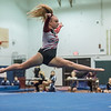 AMANDA SABGA/Staff photo<br /> <br /> Gloucester High School's Aubrey O'Flynn performs her floor routine during a gymnastics meet at Essex Technical School. <br /> <br /> 1/30/19