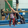 AMANDA SABGA/Staff photo<br /> <br /> Gloucester High School's Paola Brea performs her floor routine during a gymnastics meet at Essex Technical School. <br /> <br /> 1/30/19