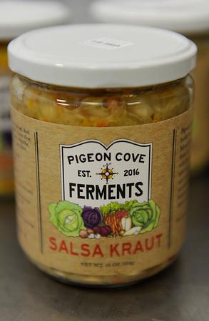 TIM JEAN/Staff photo<br /> <br /> Salsa Fraut Sauerkraut made by Pigeon Cove Ferments.   1/29/19