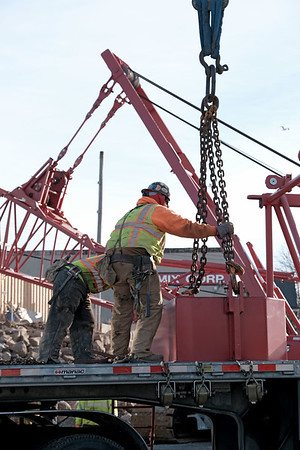 Equipment moving in for project to repair rail bridge over Annisquam